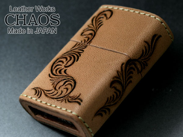 Zippo ジッポー Leather Works CHAOS LWC(Z)唐草